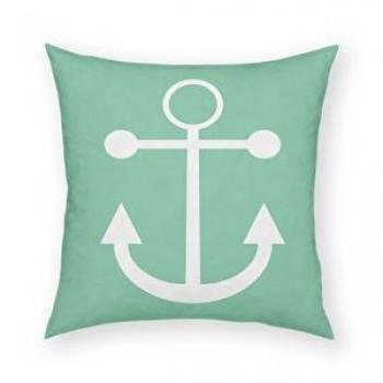 Anchor Pillow (Green)