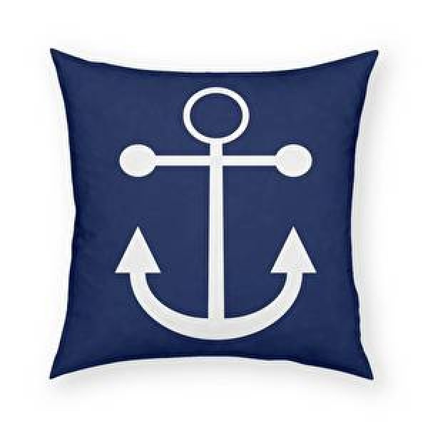 Anchor Pillow (Navy)