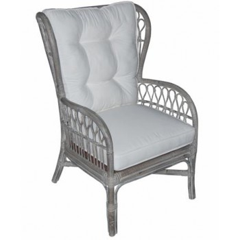Kelley Wing Back Accent Chair (Grey)