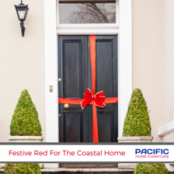 Festive Red For The Coastal Home