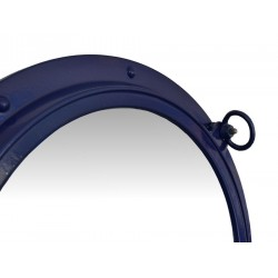 "Porthole Mirror 24"" (Navy Blue)"