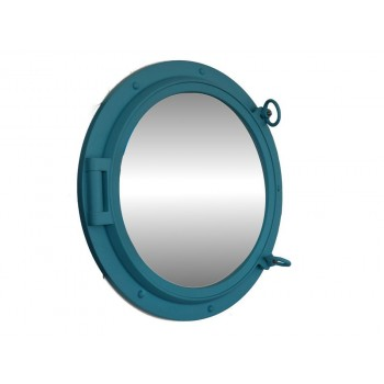 "Porthole Mirror 24"" (Light Blue)"