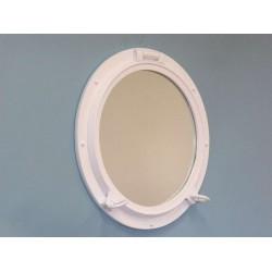 """Porthole Mirror 24"""" (White Finish)"""