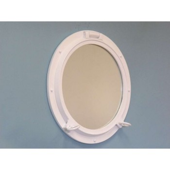 "Porthole Mirror 24"" (White Finish)"