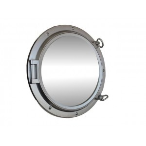 "Porthole Mirror 24"" (Silver Finish)"
