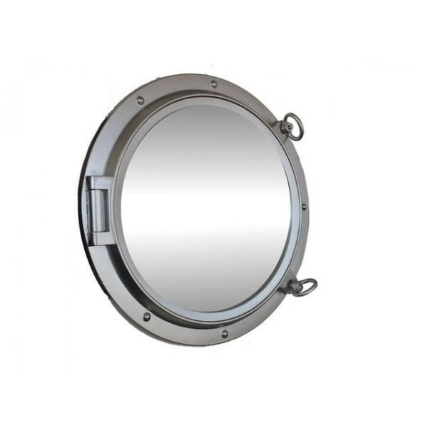 """Porthole Mirror 24"""" (Silver Finish)"""