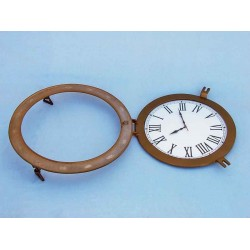 "Decorative Ship Porthole Clock 24""-Antique Brass"