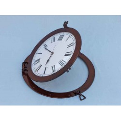 "Decorative Ship Porthole Clock 24""-Antique Copper"