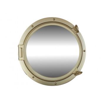 """Porthole Mirror 24"""" (Gold Finish)"""