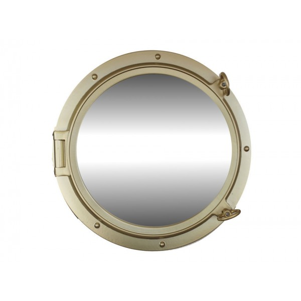 "Porthole Mirror 24"" (Gold Finish)"