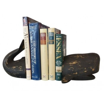 """Decorative Whale Bookends 11"""""""
