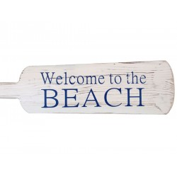 Wooden Rustic Welcome to the Beach Decorative Rowing Boat Oar