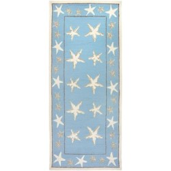 Starfish Scatter Coastal Rug