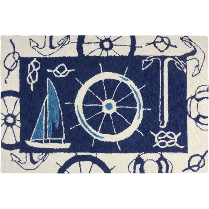 limited very rug nautical knots navy