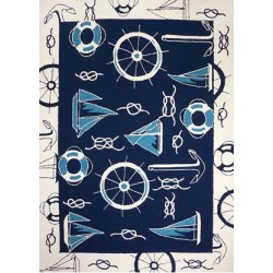 Blue & White Nautical Rug