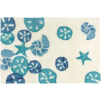 Sea Glass Sand Dollars Rug