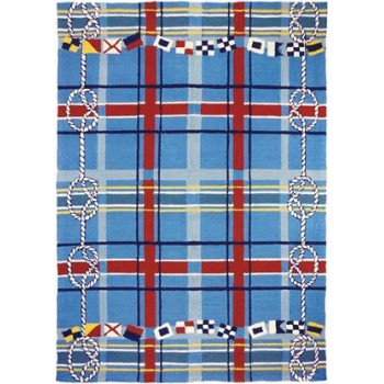Nautical Plaid Rug