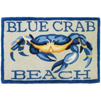 Blue Crab Beach Rug