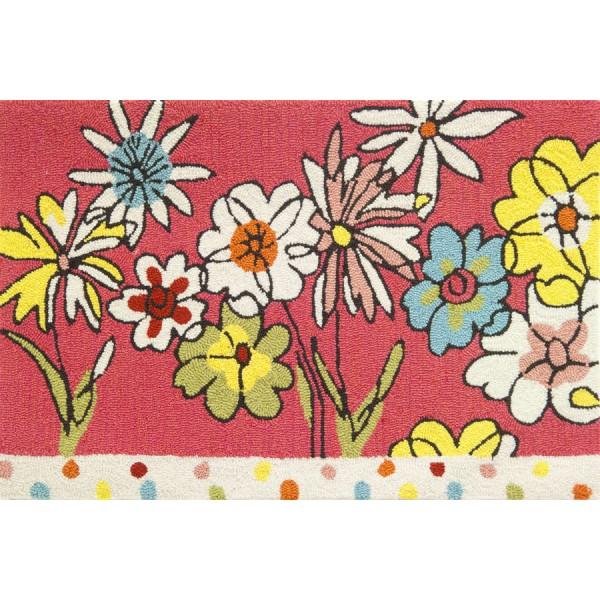 Polka Dots & Flowers Rug