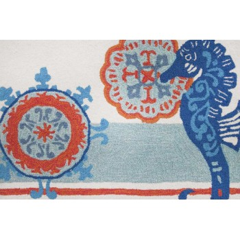 Seahorse Medallion Rug