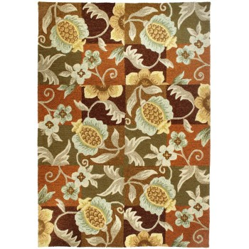 Tropical Pineapple & Flowers Rug