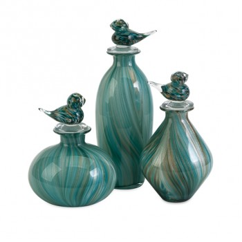 Bellatrix Glass Bird Stopper Bottles