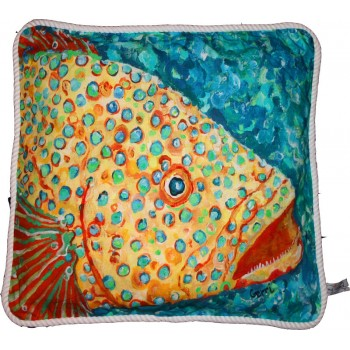 Spotted Grouper Pillow