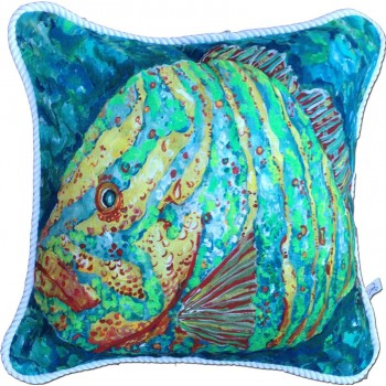 Striped Grouper Pillow