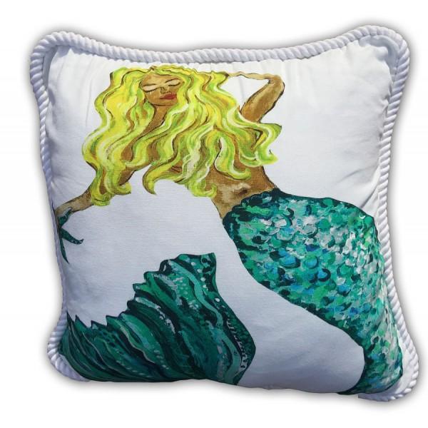 Blonde Mermaid Pillow