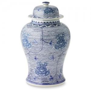 Blue & White Chain Temple Jar
