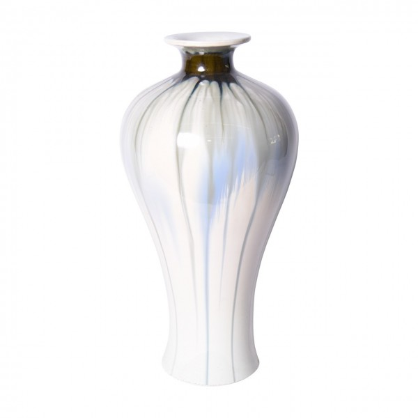 Reaction Glazed Porcelain Plum Vase