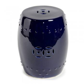 Cobalt Blue Garden Stool