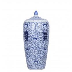 Porcelain Floral Double Happiness Ginger Jar