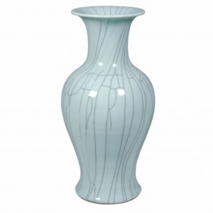 Crackle Celadon Fish Tail Vase