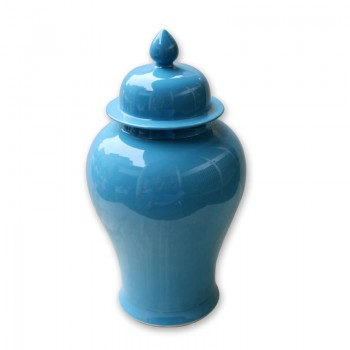 Cyan Blue Temple Jar