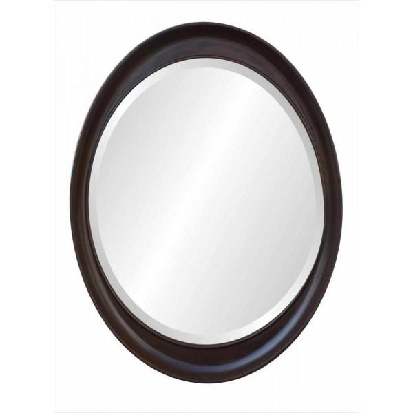 French Oval Mirror - Walnut