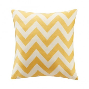 Chevron Square Pillow-Yellow