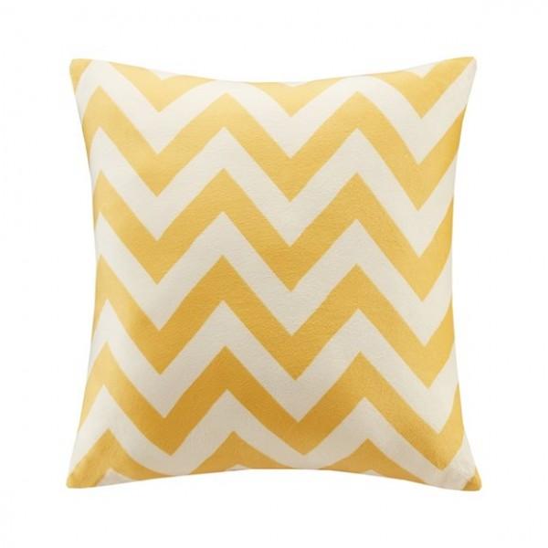 Chevron Square Pillow-Yellow