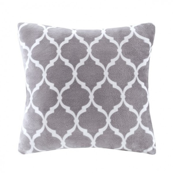 Ogee Accent Pillow-Grey