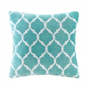 Ogee Accent Pillow-Aqua