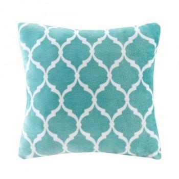 Ogee Accent Pillow-Aqua