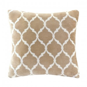 Ogee Accent Pillow-Tan