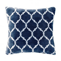 Ogee Accent Pillow-Navy