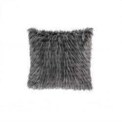 Edina Faux Fur Decorative Pillow-Black