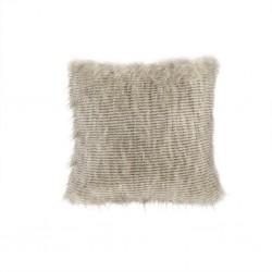 Edina Faux Fur Decorative Pillow-Natural