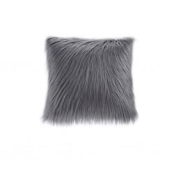Edina Faux Fur Decorative Pillow-Grey