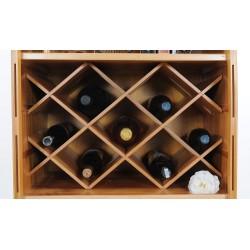 Wooden Canoe Bookcase Wine Rack