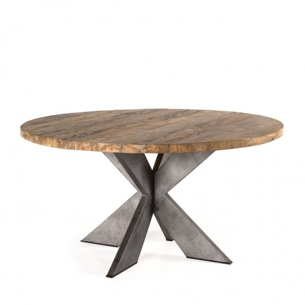 Emily Round Recycled Teak Wood Dining Table