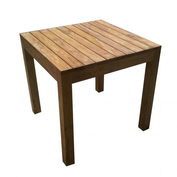 outdoor rustic teak dining table