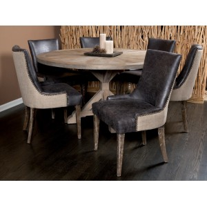 SANIBEL ISLAND DINING CHAIR - MUDDY BROWN LINEN - SET OF 2